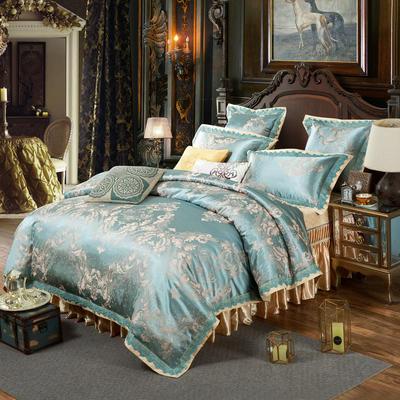 新款提花床裙四件套 1.5米床 悦动旋律