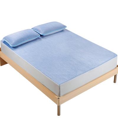 2018新款 云母凉感席三件套 欧美风格 1.2×2米床 彩云-蓝色