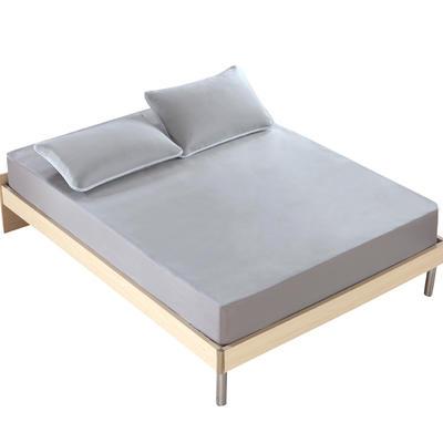 2018新款 云母凉感席三件套 欧美风格 1.5×2米床 条纹-灰色