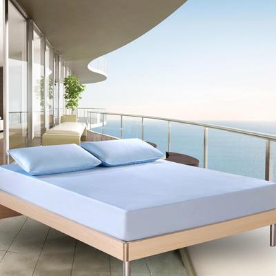2018新款 云母凉感席三件套 欧美风格 1.5×2米床 条纹-蓝色