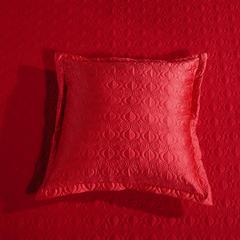 2018纯棉贡缎提花夹棉床盖四件套六件套七件套 2米床 菲洛嘉(大红)58*58cm/对(抱枕套
