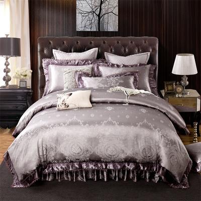 提花加棉床裙床罩四件套六件套 1.5米床 布鲁斯伦