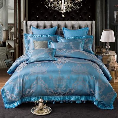 提花加棉床裙床罩四件套六件套 1.5米床 塞维斯