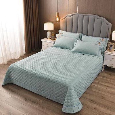 2020新款纯棉刺绣夹棉床盖四件套-单品 200*230cm单被套 红枫-翡翠绿
