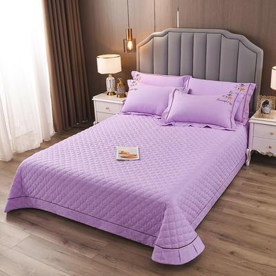 2020新款纯棉刺绣夹棉床盖四件套-单品 200*230cm单被套 红枫-梦幻紫