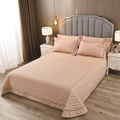 2020新款纯棉刺绣夹棉床盖四件套-单品 200*230cm单被套 红枫-暖阳驼