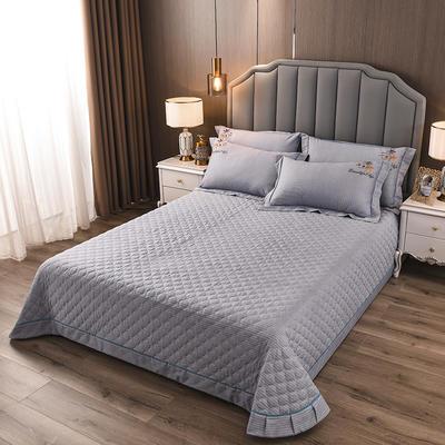 2020新款纯棉刺绣夹棉床盖四件套-单品 200*230cm单被套 红枫-时尚灰