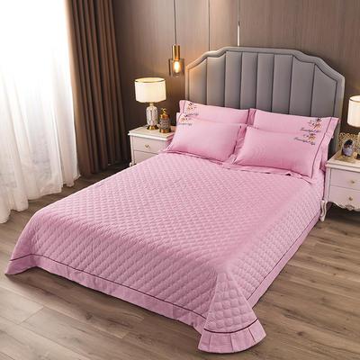2020新款纯棉刺绣夹棉床盖四件套-单品 200*230cm单被套 红枫-水晶粉