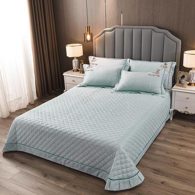 2020新款纯棉刺绣夹棉床盖四件套-单品 200*230cm单被套 红枫-天空蓝