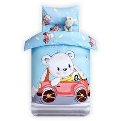 宝莱屋家纺 大版花幼儿园被子七件套(丝绵子母款) 80*150cm 汽车熊