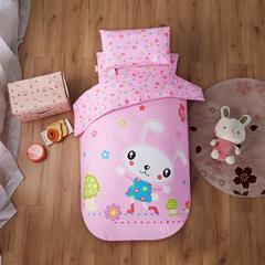 宝莱屋家纺 幼儿园套件 幼儿园被子三件套 大版花幼儿园被子六件套(特别厚棉花款) 60*135cm 兔宝贝