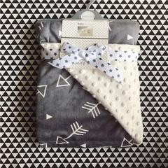 北欧风冬季纯色简约针织珊瑚绒四件套加厚保暖法莱绒被套床单床品 120*75 5
