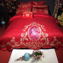 婚庆四件套 绣花款 标准四件套1.5m-1.8m床 嫁给我吧