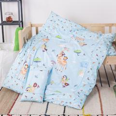 婴童用品 13372拼接幼儿园三件套 包装袋 开心动物园-蓝
