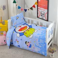 婴童用品 全棉大版花三件套 珍珠棉枕芯(30*50cm0.4斤) 哆啦A梦