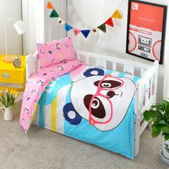 婴童用品 全棉大版花三件套 珍珠棉枕芯(30*50cm0.4斤) 眼睛熊