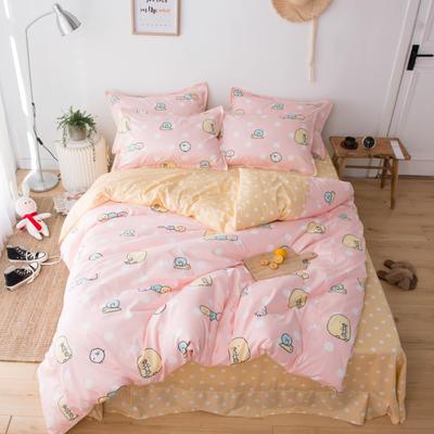2019新款60长绒棉卡通四件套 1.35m(4.5英尺)床 糯米团粉