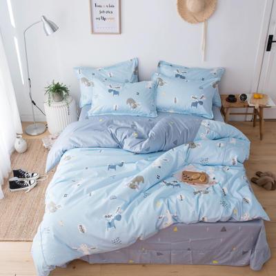 2019新款60长绒棉卡通四件套 1.35m(4.5英尺)床 小麋鹿