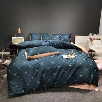 2019新款60長絨棉數碼印花四件套 1.8m(6英尺)床 夜闌