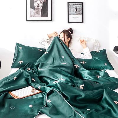 2019新款冰絲綢夏被三件套 枕套48*74/對 小芭蕾