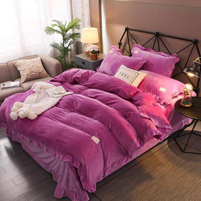 2019新款宝宝绒韩版淑女系列四件套 1.8m床单款四件套 魅惑紫