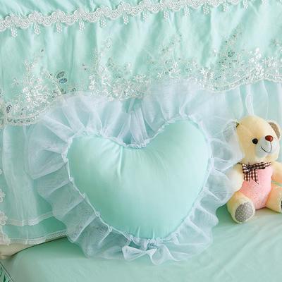 爱心抱枕 爱心枕/个(含芯) 水晶之恋水绿