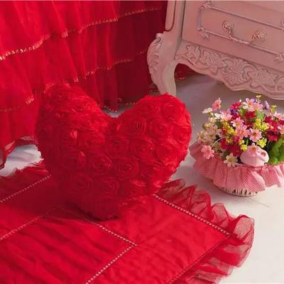 爱心抱枕 爱心枕/个(含芯) 香水玫瑰大红