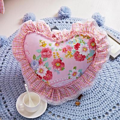 爱心抱枕 爱心枕/个(含芯) 爱的花园粉