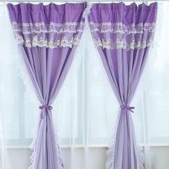 韩版套件小配件-双层加纱窗帘 公主坊紫
