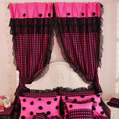韩版套件小配件-双层加纱窗帘 黑色魅影