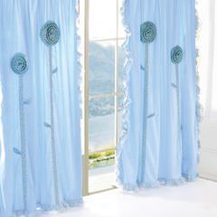 韩版套件小配件-双层加纱窗帘 沁香花语