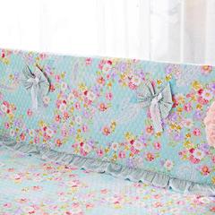 纯棉蕾丝-床头罩(1.2m) 爱的花园蓝