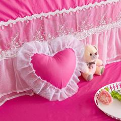 纯棉蕾丝-床头罩(1.2m) 水晶之恋玫红