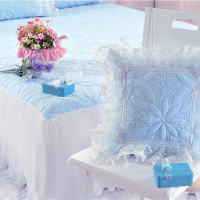 韩版套件小配件-方抱枕(40*40) 方抱枕/个(含芯) 公主恋人蓝