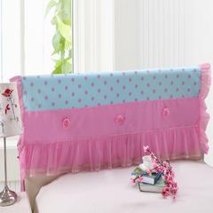 纯棉蕾丝-床头罩(1.5m) 3.波点玫瑰-