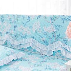 纯棉蕾丝-床头罩(1.8m) 梦丽园蓝