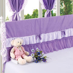 纯棉蕾丝-床头罩(2.0m) 6.紫色迷情
