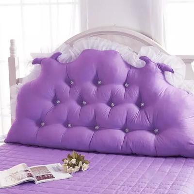 韩式靠枕-龙角加高靠背 1.2米 香水玫瑰紫