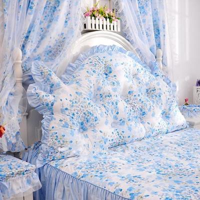 韩式靠枕-龙角加高靠背 1.2米 樱花蓝加高