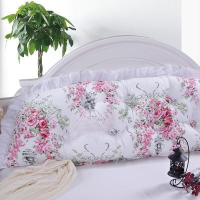 韩式靠枕-普通靠背 1.5 爱丁堡玫瑰-粉白