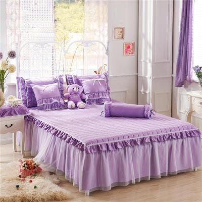 夹棉床裙单品(老款)-紫色物语 120cmx200cm 紫色物语