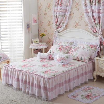 老款韩版蕾丝单床裙 120cmx200cm 爱丁堡玫瑰-粉