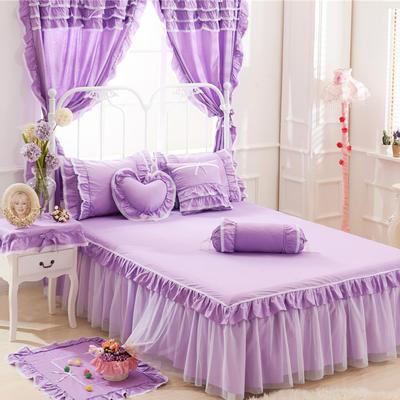 老款韩版蕾丝单床裙 120cmx200cm 紫色物语