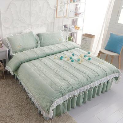 水晶绒系列四件套 1.2m(4英尺)床 枕套一只 安妮儿-豆绿