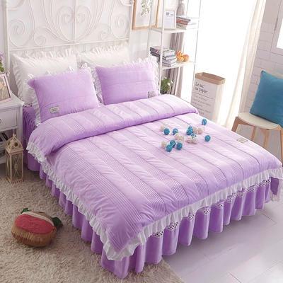 水晶绒系列四件套 1.2m(4英尺)床 枕套一只 安妮儿-紫