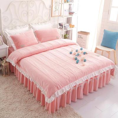 水晶绒系列四件套 1.2m(4英尺)床 枕套一只 安妮儿-玉