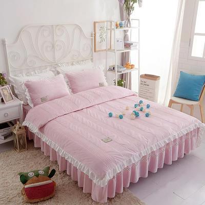 水晶绒系列四件套 1.2m(4英尺)床 枕套一只 安妮儿-粉