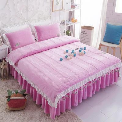 水晶绒系列四件套 1.2m(4英尺)床 枕套一只 安妮儿-玫红