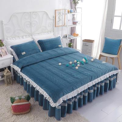 水晶绒系列四件套 1.2m(4英尺)床 枕套一只 安妮儿-蓝