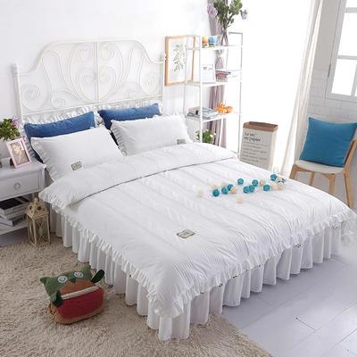 水晶绒系列四件套 1.2m(4英尺)床 枕套一只 安妮儿-白